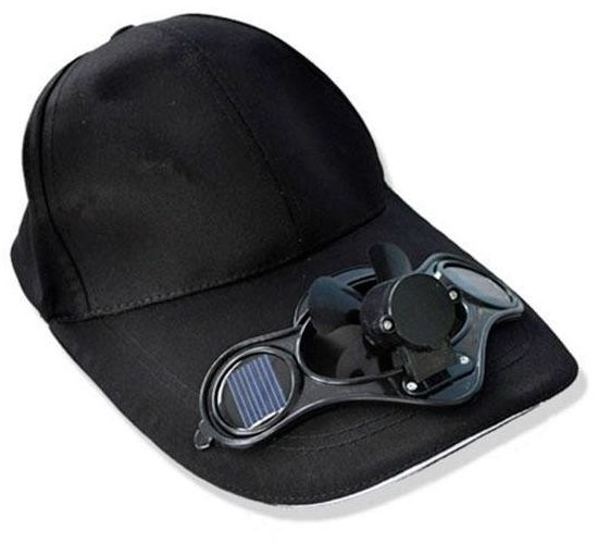 Solar Power Hat Cap With Cooling Fan For Outdoor Golf