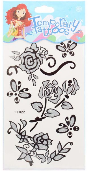 Temporary Tattoos For Women-Silver Black
