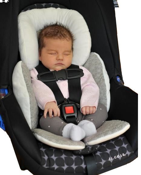 JJ Cole Baby Head And Body Support Pillow For Car Seat StrollerGrey