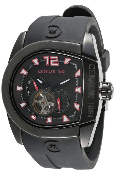 112d23ba61 Cerruti 1881 Men's Black Dial Silicone Band Watch - C CRWF001F284I ...