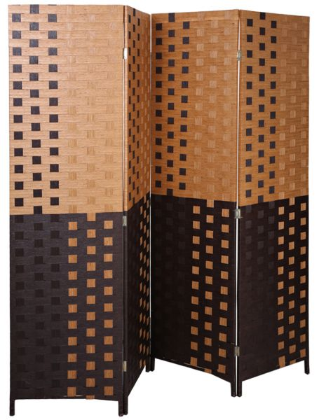Souq Aft Synthetic Fabric Brown Foldable Room Divider UAE