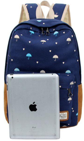 46d6da628c63 Canvas Backpack Women Fashion Rucksack Girls Satchel School Bag. by Other