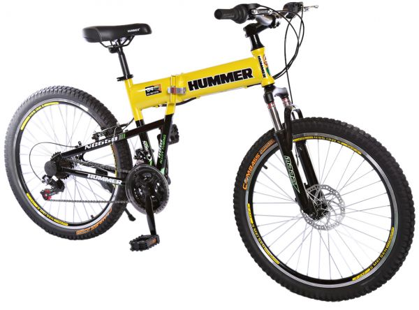 rally foldable hummer mountain bike 24 rs35 yellow. Black Bedroom Furniture Sets. Home Design Ideas