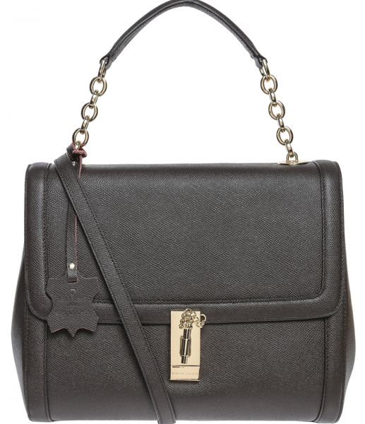 Pierre Cardin Leather Bag For Women Brown Satchels Bags