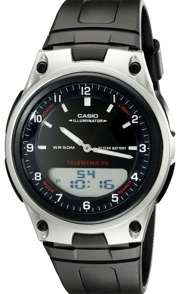 27f87749d Casio Forester Men's Ana-Digi Dial Rubber Band Watch - AW80-1AV
