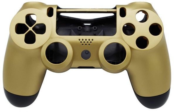 Golden Replacement Shell Case Cover Compatible for PlayStation PS4  Controller