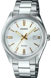 Casio Women's Silver Dial Stainless Steel Band Watch - LTP-1302D-7A2