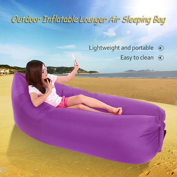 Groovy Purple Portable Inflatable Sofa Air Bed Lounger Chair Outdoor Sleeping Bag Mattress Eth 06 Gmtry Best Dining Table And Chair Ideas Images Gmtryco