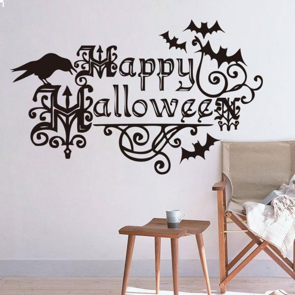 DIY Removable Happy Halloween Wall Stickers Home Decoration ...