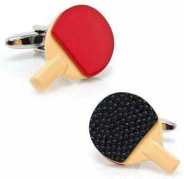 Fashion Copper Material table tennis racket Design CuffLinks for Men Gifts