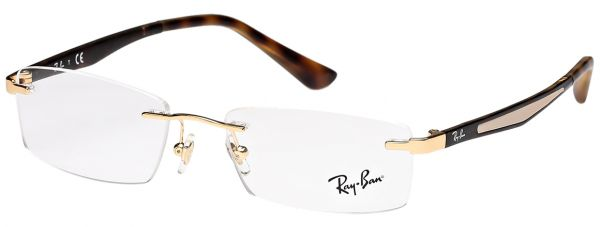 a618613035 Ray-ban Rimless Gold Unisex Optical Frames - Rx6326i-2500-52-52-17 ...