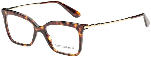 3aa85a6c753 Dolce   Gabbana Rectangular Full Rim Frames for Women - Havana ...