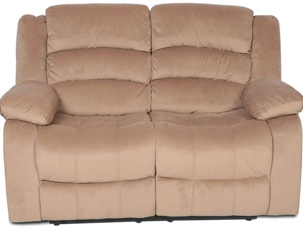 Danube Home Contemporary Fabric Damian 2 Seater Recliner Sofa Beige