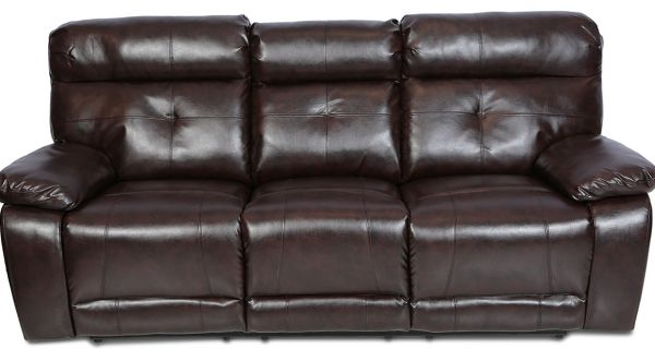 Danube Home Contemporary Pu Leather Dimas 3 Seater Recliner Sofa