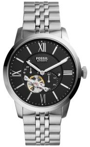 935be30d91a Fossil Townsman Men s Black Dial Stainless Steel Band Automatic Watch -  ME3107