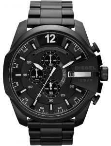 c31663587 Diesel Mega Chief Men's Black Dial Stainless Steel Band Chronograph Watch -  DZ4283