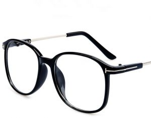 e74bbf5b1b4 Retro Metal Flat Decoration Eyewear Fashion Big Frame Glasses For Women Men