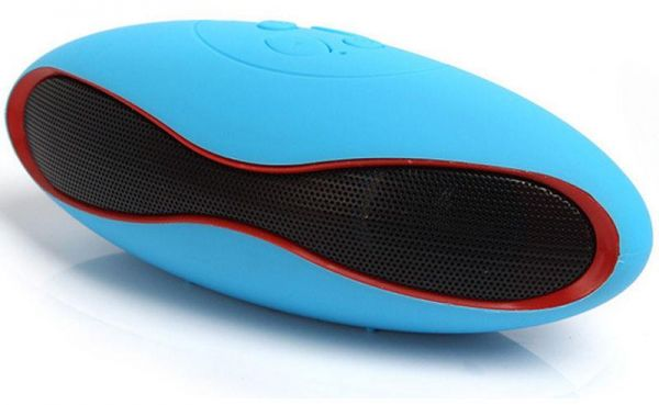 Wireless Bluetooth Speaker Portable FM Rugby For Samsung iPad iPhone iPod  Tablet PC Blue