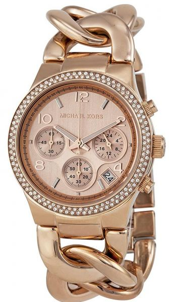 2018 sneakers sneakers new arrive Michael Kors Runway Twist Women's Rose Gold Dial Stainless Steel Band  Watch, MK3247