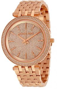 a14ba6593f31 Michael Kors Darci Crystal Pave Women s Rose Gold Dial Stainless SteelBand  Watch - MK3439