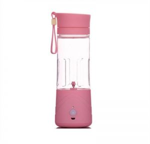 Portable Electric Juicer Cup Countertop Blender, Pink