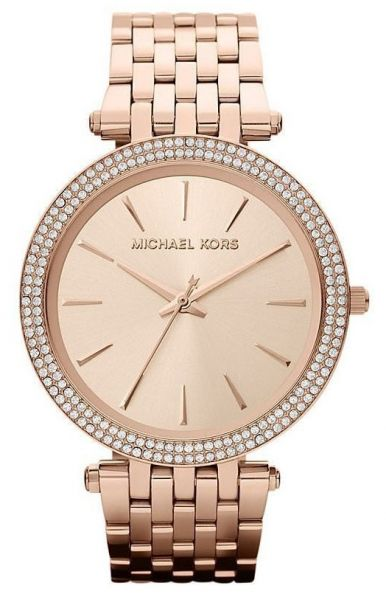 9aaee49a642 Michael Kors Darci Watch for Women - Analog Stainless Steel Band - MK3192