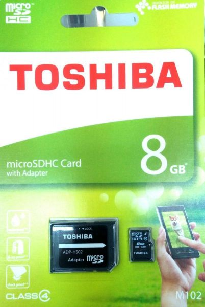 Toshiba 8 GB Memory Card For Mobile Phones - Micro SD High Capacity Cards - M102