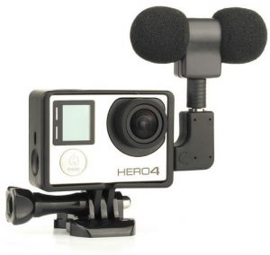 Stereo Microphone Standard Frame Case for Gopro Hero 4 3 3 USB to 3.5mm Mic Adapter Cable Cord