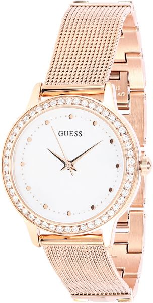 ed76cd5d1a033 Guess Chelsea Women's Mother of Pearl Dial Stainless Steel Mesh Band ...