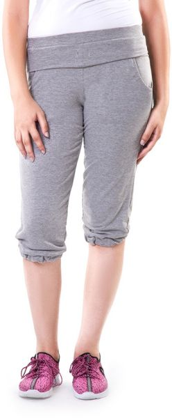 Solo WPC-S16WC-084-004 Flat Front Short For Women-Grey, Medium