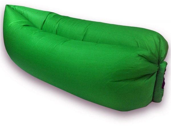 Lazy Bag Hangout Inflatable Air Sofa Outdoor Camping Travel Beach Sleeping Bed Green Tlb Z3