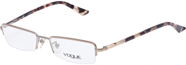 Buy Vogue Rectangle Brown Women\'s Eyewear Frame - Vo 3773e 848-49-17 ...