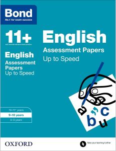 Bond 11+ English Assessment Papers Up to Speed 9-10 Years by Frances Down and Alison Primrose - Paperback