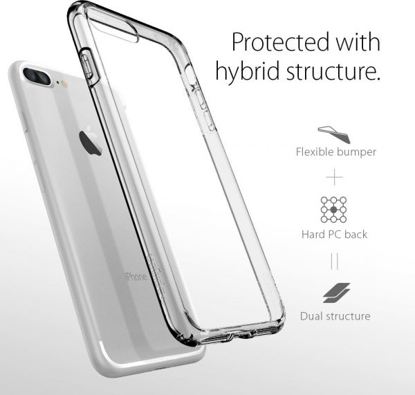 buy popular 93938 65eaa Spigen iPhone 7 PLUS Ultra Hybrid cover / case - Crystal Clear
