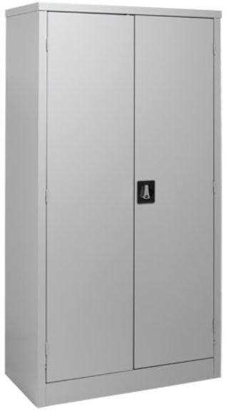 Souq 2 Door Steel Cabinet All Shelves Grey 180 X 90 X 45 Uae