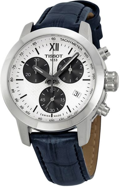 Tissot Prc 200 Fencing Women's White Dial Leather Band Watch