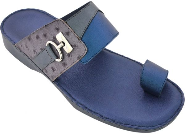 4587908536b Chic Shoes Blue Comfort   Medical Slipper For Men