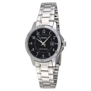0e05a065f394 Casio His Hers Black Dial Stainless Steel Band Couple Watch Mtp Ltp V004D 1B  7792923
