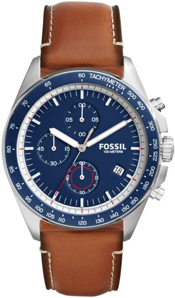 33303fa670b Fossil Sport 54 Men s Blue Dial Leather Band Watch - CH3039. by Fossil