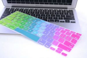 Rainbow Color Series Silicone Keyboard Cover Skin Macbook Air 13 Inch Macbook Pro 13.3 15 17 Inch