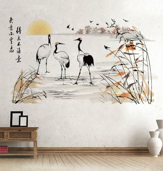 135cm X 76cm Extra Large Size Bird Stork Wall Decals For Living Room