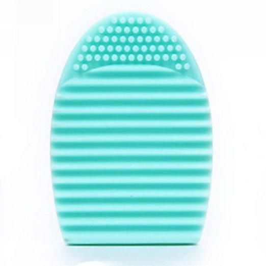 Silicone Gel Makeup Washing Brush Cleaner Egg Scrubber Tool (Green)