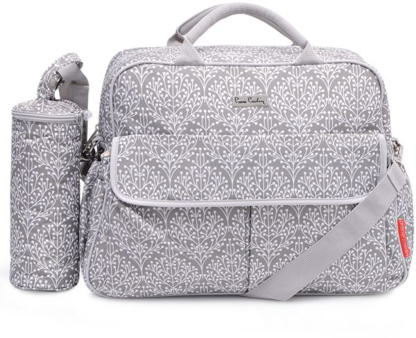 Pierre Cardin Pb8127 Diaper Bag With Bottle Holder Grey Baby