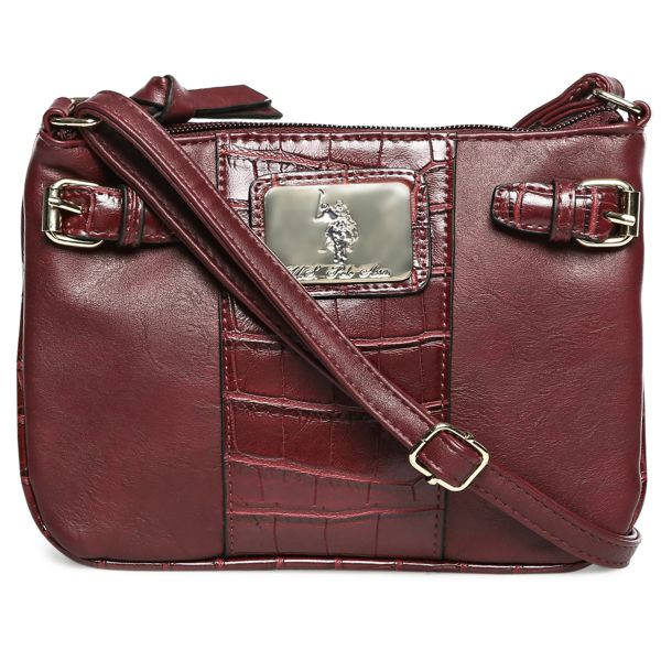 37044cf0a8581 U.S. Polo Assn. USP15F61R-O Dillon Classic Saddle Crossbody Bag for Women -  Red