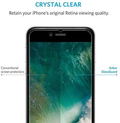 iPhone 7 Plus Screen Protector, Anker Glass Screen Protector GlassGuard