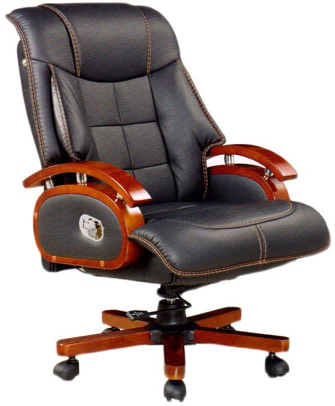 Office Chair With Wood Arms And Wheels Black