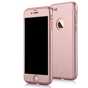 Ultra Thin Full Body 360 Degree Coverage Protection Hard Slim Case For Apple iPhone 7 - Rose Gold