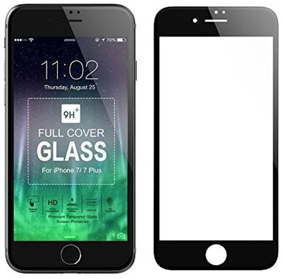 Full-Cover Tempered Glass Anti-Fingerprint HD Curved Screen Protector for Apple iPhone 7 - Black | Souq - UAE