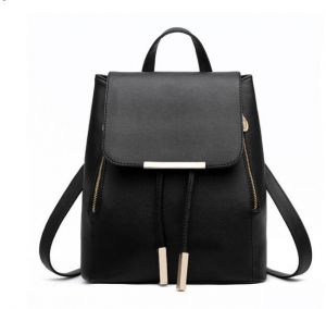 c159733be97 Fashion Shoulder Bag Rucksack PU Leather Women Girls Ladies Backpack Travel  bag-Black