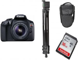 Canon Eos 1300d Lens Kit 18 Mp Dslr Camera 18 55mm 3 5 5 6 Is Ii Power Tr380 Light Weight Tripod Sandisk Ultra Sdhc 16gb Memory Card